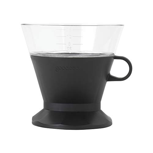 Goodcook Koffe BPA-Free Plastic Auto-Drip Pour Over Coffee Maker with #2 Paper Filters