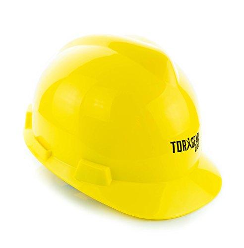 Chapéu rígido infantil – Idades 7 a 12 – Capacete ou fantasia infantil de segurança amarela