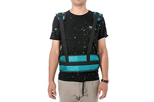 HANSHI - Cinturón de seguridad acolchado para sillas de ruedas, cinturón de silla de ruedas ajustable, cinturón de atención al paciente, cinturón de seguridad con hebilla ajustable HBZ09-B