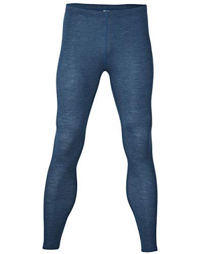 Legging pour homme 100 % laine (kbT) - 2 couleurs - Lavable en machine - Bleu - W52