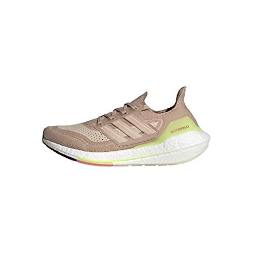 adidas Women's Ultraboost 21 Running Shoe, Ash Pearl/White/Halo Ivory, 9