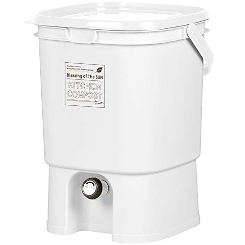 リブウェル(Livewell) 家庭用 生ごみ処理器 キッチンコンポスト ボカシコンポスト (ホワイト)
