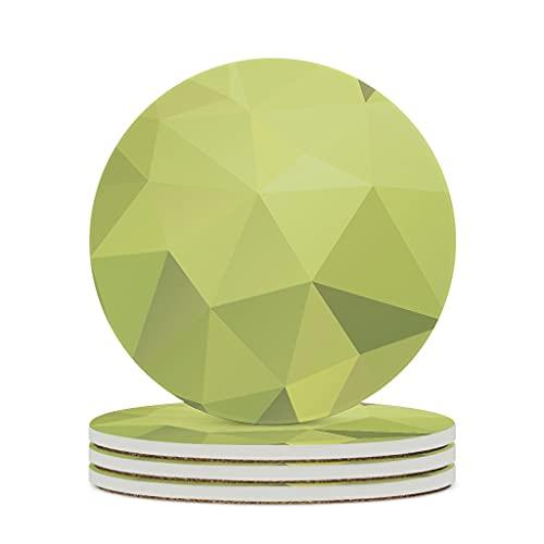DAMKELLY Store Posavasos de cerámica con forma de cubo de gradiente, de primera calidad, retro, único, para el hogar, para regalo de cumpleaños, color blanco, 4 unidades