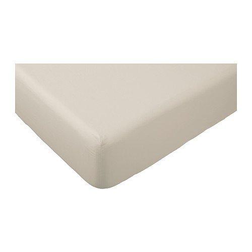 IKEA DVALA - Fitted sheet beige - 160x200 cm