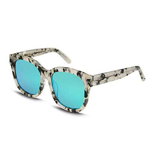 ADGHUE Zonnebrillen- Zonnebril Hipster Persoonlijkheid Retro Ronde Frame Grote Doos Zonnebril Vrouwelijke Tide Bril Gray-14.5x14.8x5.7cm