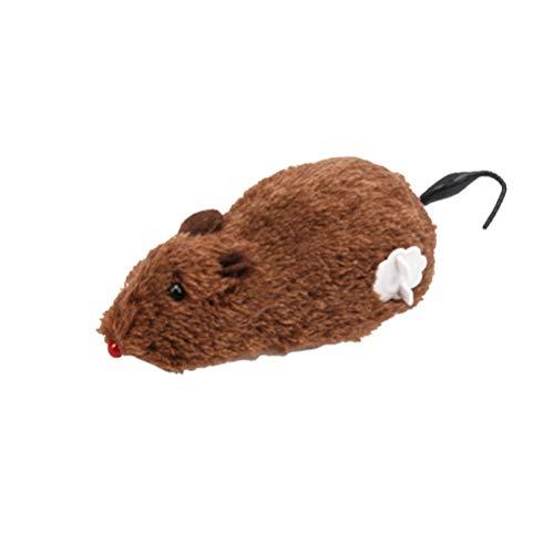 Amosfun Peluche Topo Gatto Giocattolo Avvolgere Ratto Giocattolo per Bambini Bambini Adulti Animali Gioco interattivo (Colore Casuale)