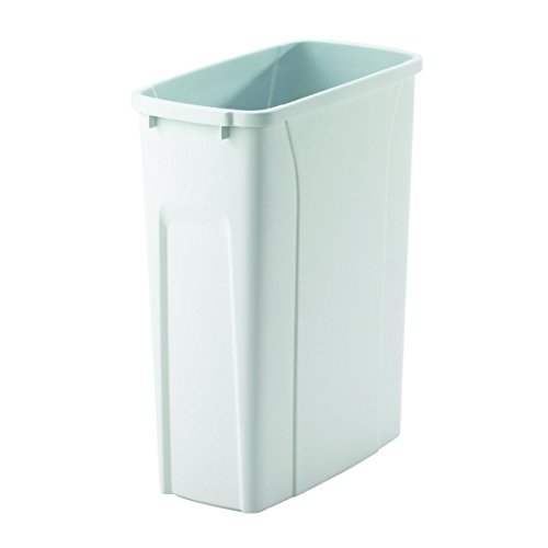 Knape & Vogt QT20PB-WH Replacement Trash Can, 16-Inch by 14.25-Inch by 7.25-Inch