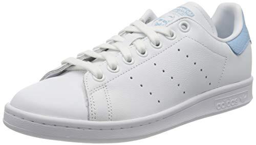adidas Stan Smith W, Zapatillas para Mujer, FTWR White/FTWR White/Clear Sky, 40 EU