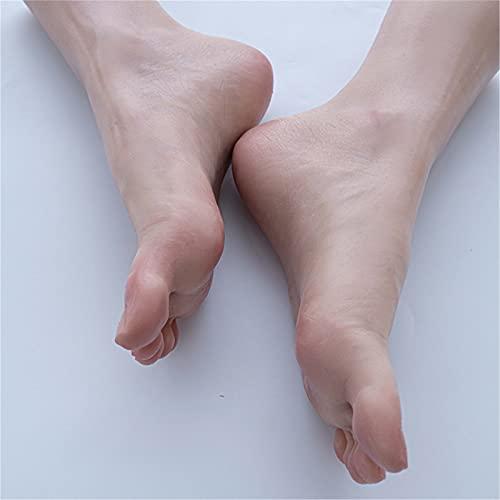 AFYH Silicona Pies Modelo, Modelo de clon de pie de Platino líquido Superior Modelo TPE, Copia 1: 1 Modelo de exhibición de pie de 1 par 37# / 22.5cm para exhibición de Calzado Accesorios