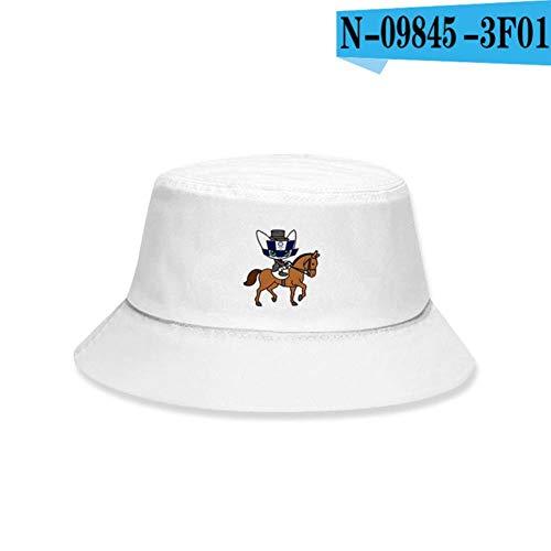 liqun Sombrero De Cubo De Los Juegos Olímpicos De Tokio Hombres Mujeres Gorra De Cubo De Verano Imprimir Sombrero 3DHip Hop Gorros Sombrero De Pescador De Pesca, H, Niño M 50-53