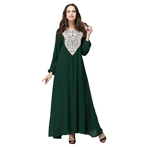 WUDUBE Mode Frauen Muslimische Robe, Frauen Langes Kleid Dubai Doppelschicht Lose Kleid Islam Abaya Muslim Kostüm