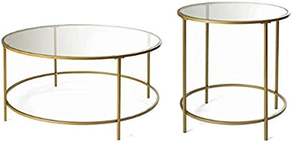 Better Homes Gardens Nola Coffee Table Gold Bundle With Better Homes Gardens Nola Side Table Gold