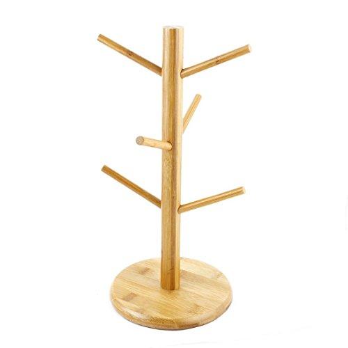 sourcingmap Suspension en bambou à personne café thé Tasse Tasse en verre Support porte arbre