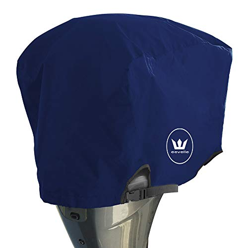 Best Price Windstorm Outboard Boat Motor Covers Heavy Duty 600D Polyester Marine Canvas - 9 Colors (...