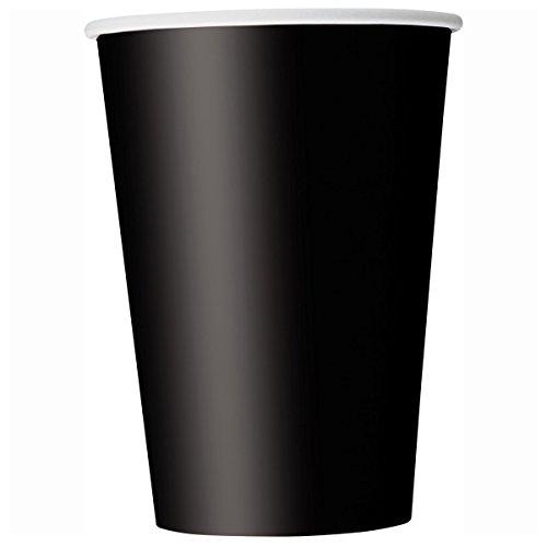 Unique Party Pappbecher,schwarz, 270 ml,14er Packung