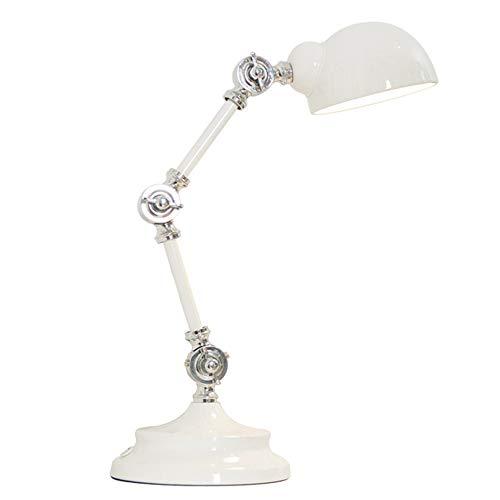 Nordic industriële wijnoogst-robot tafellamp design schommelende arm kunst retro LED-leesbureau verlichting oogverzorging nacht slaapkamer slaap wit
