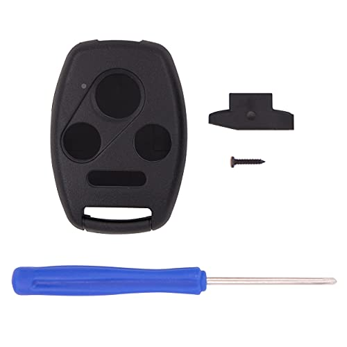 Keyless2Go Replacement for 4 Button Honda Remote Key Shell - Without Chip Holder