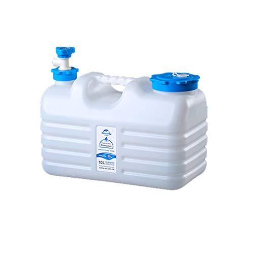 YXYXX Portátil Bidón Recipiente de Agua, Grifo Giratorio de 360 Grados, para Camping, Picnic, Senderismo, etc. / Blanco / 10l