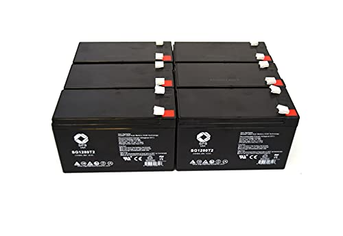 Replacement Battery for CP RB1280X2B UPS Replacement Battery (6 Pack)...
