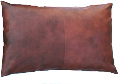 Black Neck Pillow Leather Cushion 60 x 22cm 100/% Real Leather Sofa Couch Pillow