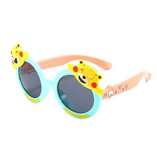 Outdoor Sonnencreme Sonnenbrille Kinder Sonnenbrille niedlichen Bär Cartoon Sonnenbrille runden Rahmen Tierform Brille Trend Kinder Spiegel-4