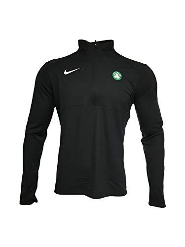 Nike Men's Boston Celtics 1/2 Zip Jacket 100% Polyester 941356 Black (Medium)