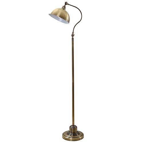 LKK-KK Lámparas de pie, llevada creativa del bronce Habitación Sala lámpara de cabecera de hierro Estudio decorativo Lámpara de piso, Eye-El cuidado de luz vertical