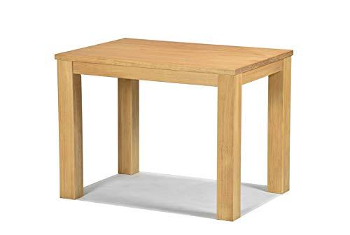 Naturholzmöbel Seidel Esstisch 100x70cm Rio Santo Farbton Honig hell Pinie Massivholz geölt und gewachst Holz Tisch für Esszimmer Wohnzimmer Küche