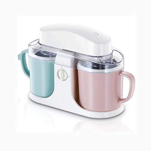 JYDQM Helados y sorbetes Cafetera, Yogurt, Helado, Fruta Completamente Helado automático de la máquina Double Barrel