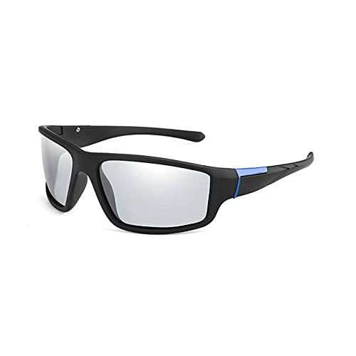 Men's Color Changing Sunglasses Matte Black Sports Goggles Women's Color Changing Polarized Driving Sunglasses-Glasses