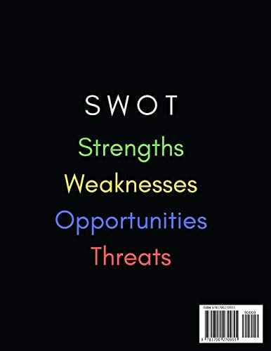 SWOT Analysis Template: Notebook Containing Spacious Templates for SWOT Analysis