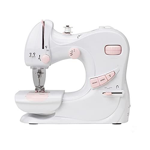 Mini Máquina De Coser Mini máquina de coser eléctrica portátil para principiantes y adultos Fácil de usar y rápido para coser Adecuado para la ropa Cortinas de tela DIY Máquina De Coser Para Principia