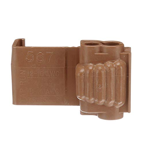 3M Scotchlok Electrical IDC 567-Pouch, Run and Tap, Brown, 18-14 Awg (Tap), 12-10 Awg (Run), 100 per pouch