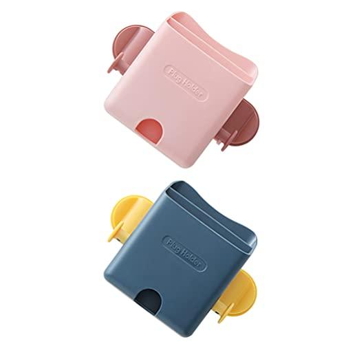 Cabilock 2Pcs Wand Halterung Telefon Halter Klebstoff Wand Handy Lade Klammern Halter Fernbedienung Ständer Mehrzweck Lagerung Box