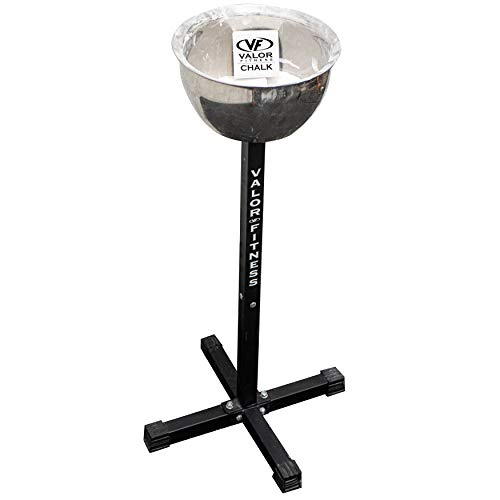 Valor Fitness CH-1 Chalk Holder Station for Home or Commercial Gyms, Including CH-2 Gym Chalk for Improved Grip and Performance While Weightlifting, Rock Climbing, or Cross Training