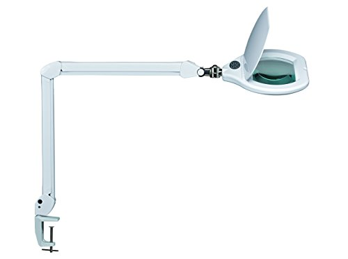 MAUL maulcrys Vallée A, LED Lampe loupe à intensité variable, métal, 17 Watts, blanc, 84 x 26 x 51 cm