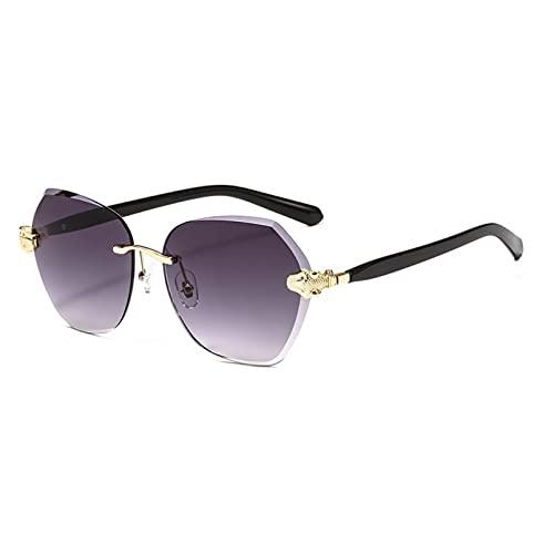 DAIDAICDK Gafas de Sol sin Montura para Mujer Gafas de Sol graduales Gafas sin Marco Gafas UV400 Accesorios para Coche al Aire Libre