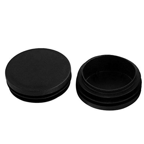 sourcingmap Bouchou Pour Pied Meuble Table Chaise Embout Bouchou Tuyau Insert Tube couvercles rond en plastique noir 50 mm diamètre 2pcs