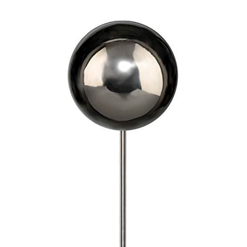 Edelstahlkugel Edelstahl Kugel STECKER 115 cm. Gartenstecker, Kugel glänzend poliert 15 cm auf Edelstahl STAB 100 cm. 7219506-49