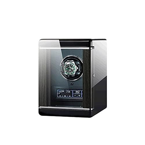 WBJLG Devanadera automática de Lujo de Huellas Dactilares de Reloj mecánico de Cuerda automática Caja de presentación de Reloj para Hombres Regalo de Lujo de 2 Posiciones