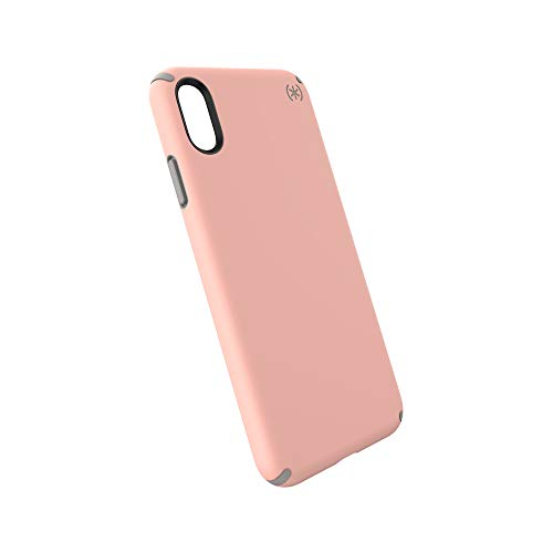 Speck Products Presidio Pro iPhone Xs Max Case, Macaroon Peach/Cathedral Grey