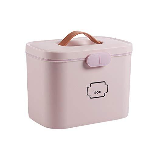 GmgodCaja de almacenamiento, caja portátil para el hogar pequeña familia cargada caja de almacenamiento de gran capacidad - Multi color - Talla Única