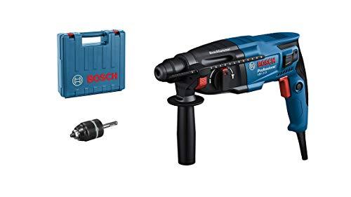Bosch Professional Bohrhammer GBH 2-21 (mit SDS plus, inkl. Schnellspannbohrfutter, Zusatzhandgriff, Maschinentuch, Tiefenanschlag, im Handwerkerkoffer)