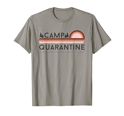 Retro Vintage Camp Quarantine Funny Social Distancing Gift T-Shirt