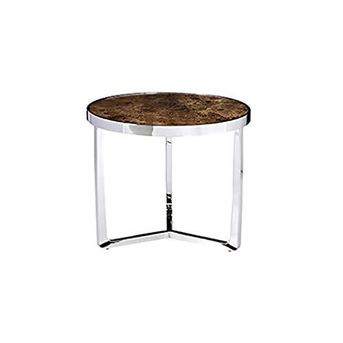 table basse nordic simple ménage combinaison salon marbre côté canapé (taille : 60cm*50cm)