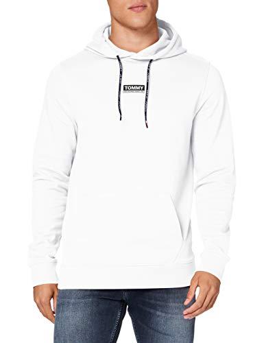 Tommy Jeans Herren TJM Essential Graphic Hoodie Pullover, Weiß (White), XS