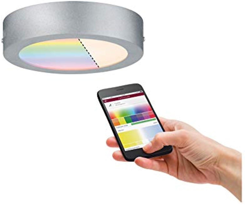 Paulmann 500.85 Smarthome Zigbee Cesena LED-Panel Chrom Matt Durchmesser 170mm RGBW 50085 - Amazon Echo Plus kompatibel