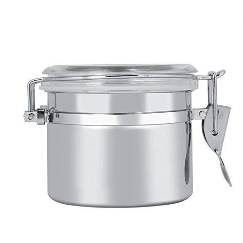 Fdit Bote de Almacenamiento de café y Alimentos de Acero Inoxidable, Recipiente para almacenar Alimentos, tarros de té, azúcar, Leche y Polvo, 10 * 7.4cm, 1