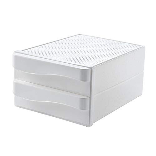 Beada A4 Tarjetas de Documentos de Papel de Oficina Caja de Almacenamiento de Escritorio Tipo Cajón Teléfonos Móviles Plumas 2-Layer Home School Plastic Shelf
