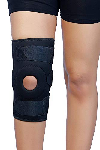 Lector Functional Knee Stabilizer Open Patella Hinged Knee Brace for Knee Support Knee Brace Joint Protection for Gym, Ligament Injury & Sporting activities Men & Women (XXL)
